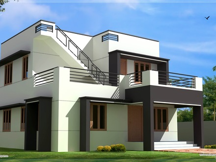 Design Home Modern House Plans Two-Story House Design Modern