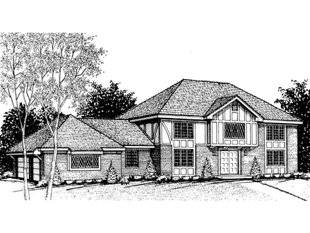 Colonial house plan right elevation 001d 0038 house plans for Colonial luxury house plans