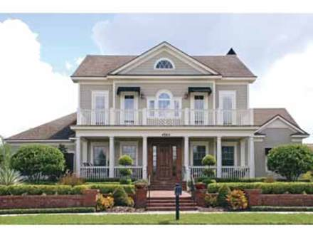 Cape cod style house southern colonial style house plans for Classic colonial home plans