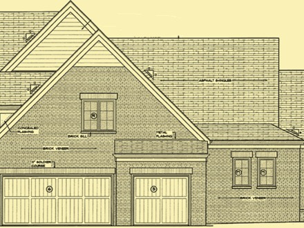 House Side Elevation Plan Ranch House Plans Elevation