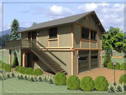 Log cabin garage plans log house plans with garages log for Log home plans with garage