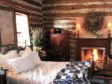 Romantic Cabin Bedrooms Cozy Cabin Bedroom with Fireplace
