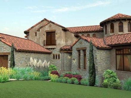 Italian mediterranean homes for Italian house plans with courtyard
