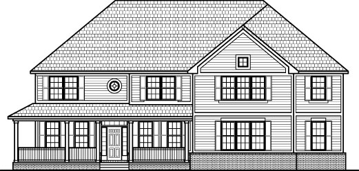 2 Story Ranch House 2 Story Farm House Drawings