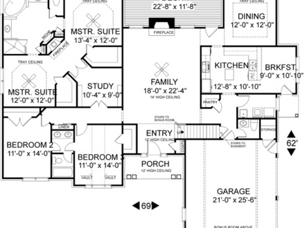 Frame house plans loft house plans cool house plans for His and hers bathroom floor plans