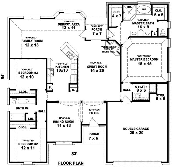 3 Bedroom 3 Bath House Plans: 3 -Story Tiny House Plans House Floor Plans 3 Bedroom 2