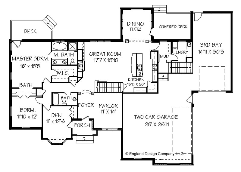 Cape Cod House Ranch Style House Floor Plan Design