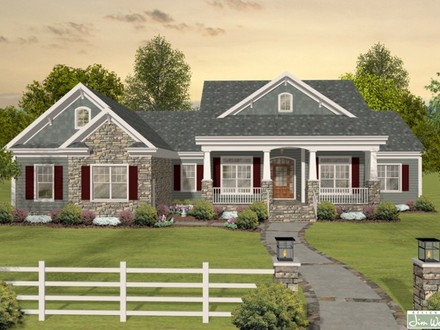 Craftsman One Story Ranch House Plans One Story Bungalow