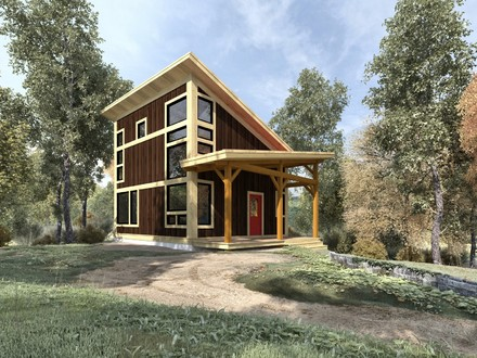 Small Post and Beam Cabins Small Timber Frame Cabin Plans