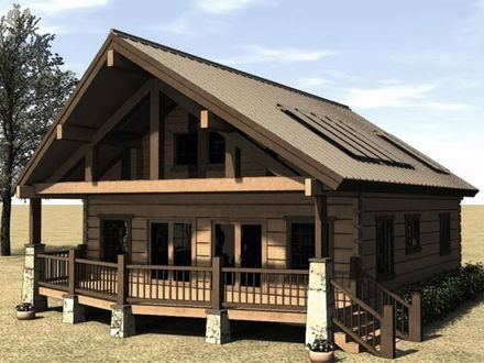 Small Cabin Floor Plans Cabin House Plans with Porches