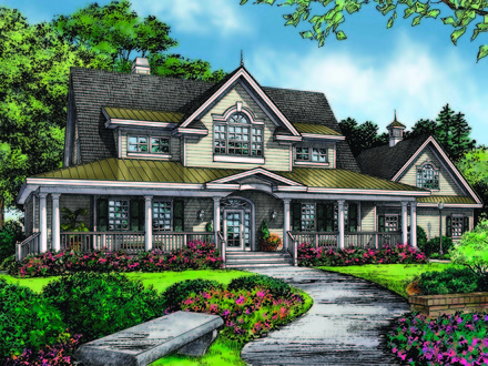 Ranch house plans with wrap around porch ranch house plans for House plans with portico garage