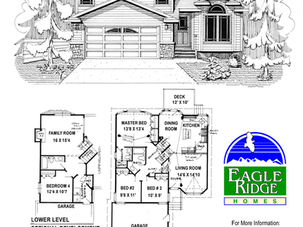 Split garage house plans side split home plans side split for Reverse ranch floor plans