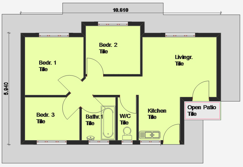 Cheap 3 Bedroom House Plan 3 Bedroom House Plan South Africa