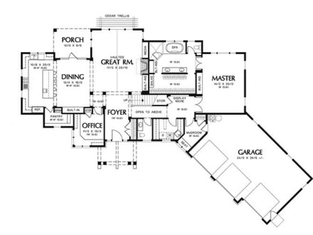 Cottage cabin floor plans cottage floor plans and designs Prairie style house plans luxury