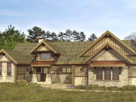 Cumberland trace home plan moss creek home plans hybrid for Timber log home plans