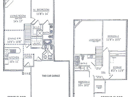 Basement Bedrooms 3 Bedroom 2 Story Home Floor Plans