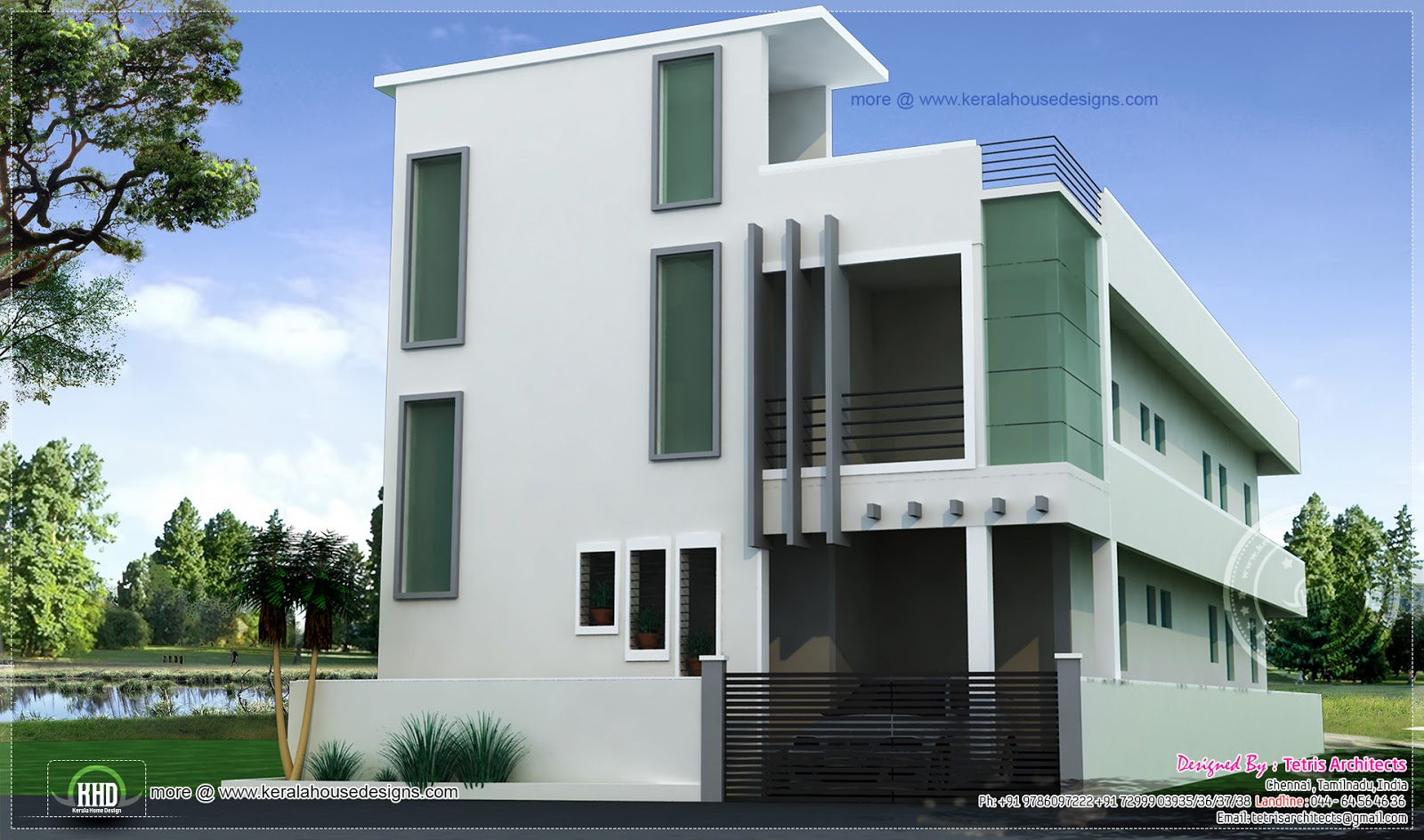 D Front Elevation Of Residential Building : House elevation blueprint design