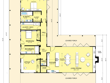 L shaped range home plans l shaped ranch house plans for L shaped home plans