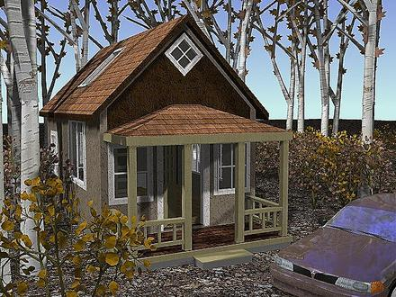Tiny romantic cottage house plan small country cottage for Small house plans michigan