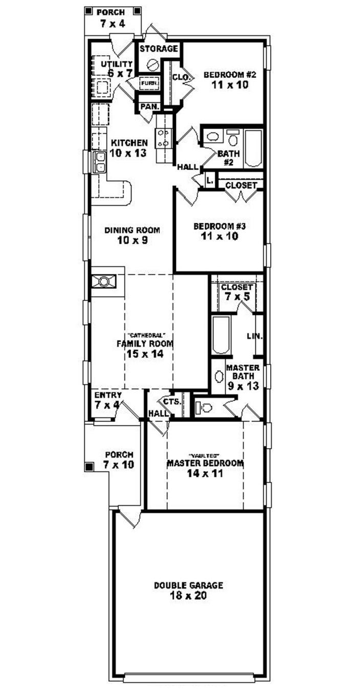Old Narrow Lot House Plans Narrow Lot House Plans Narrow