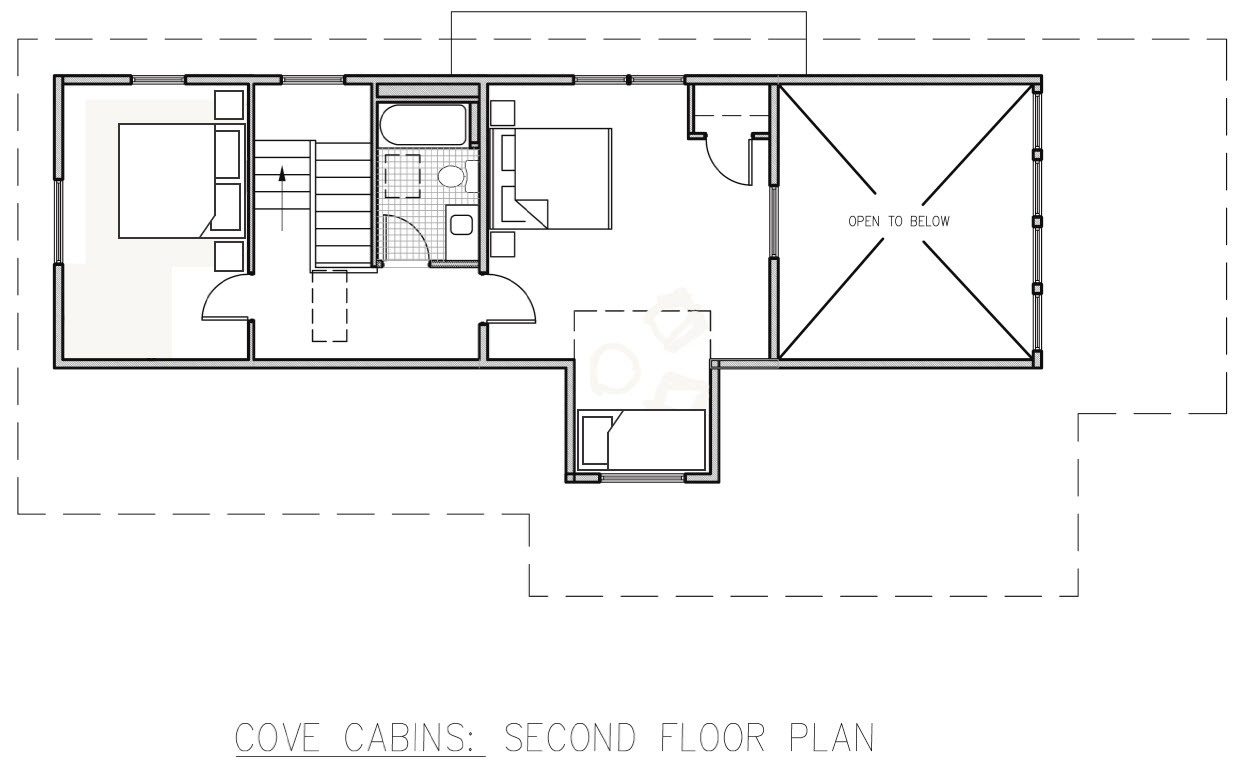 Small hunting cabin floor plans small cabin interiors for Lodge plans with 8 bedrooms
