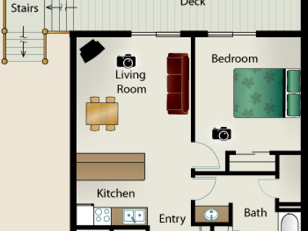 Small One Bedroom House Floor Plans Simple Small House Floor Plans