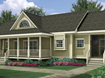 One story house plans with open concept one story house for Single story house plans with front porch