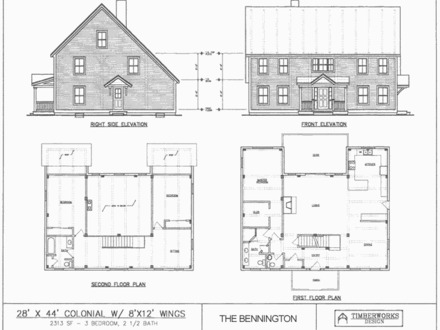 Small saltbox house plans small two story home plans for Two story saltbox house plans