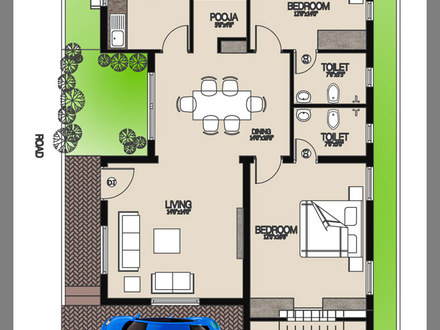 Single Story House Indian Single House Floor Plan