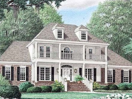 Southern Plantation Style House Plans Antebellum Style ...