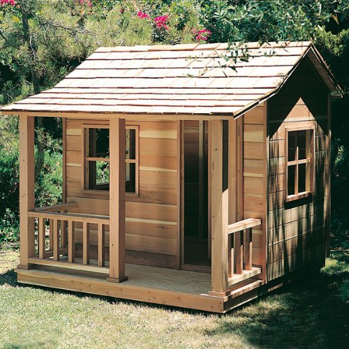 Wooden Playhouse Plans Elevated Playhouse Plans Build It