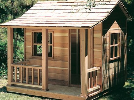 Wooden Playhouse Plans Elevated Playhouse Plans