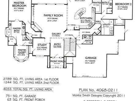 2 Bedroom One Story Homes 5 Bedroom 2 Story House Plans