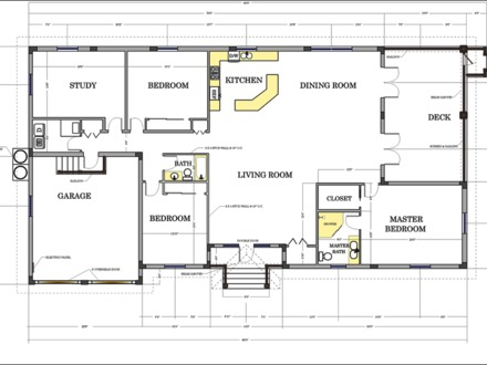Floor Plans for Ranch Homes Floor Plans with Dimensions
