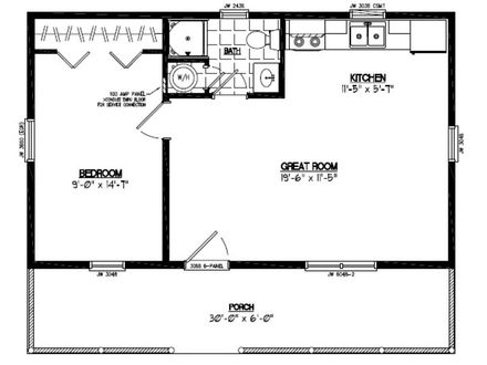 X-22 Jet 22 X 30 House Floor Plan