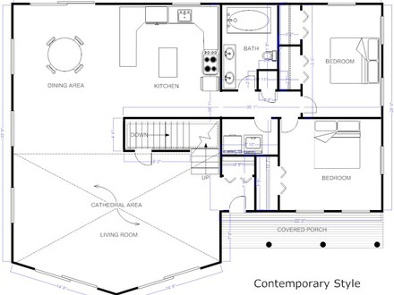 Cad architecture home design floor plan cad software for - Free home design drawing software ...