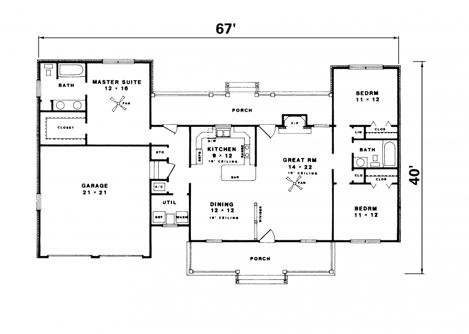 Simple Ranch House Floor Plans Simple Ranch House Floor Plans
