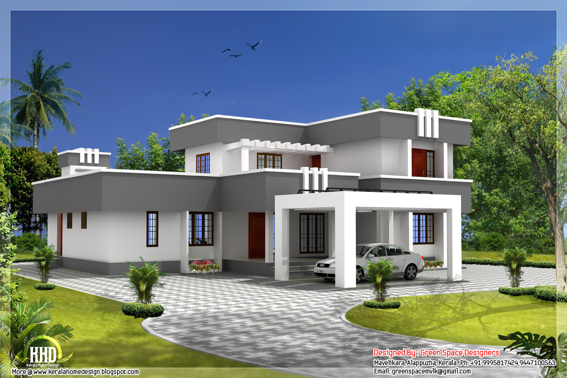 Small house plans flat roof flat roof house plans designs box house plans for Flat roof house plans design