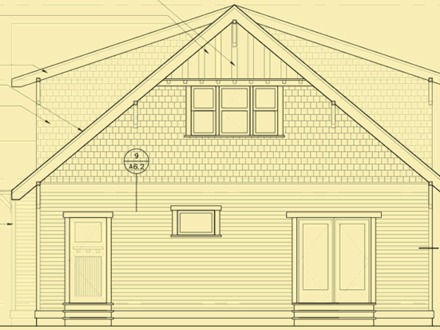 Historic Bungalow House Plan Architectural Bungalow House Plans and Elevations