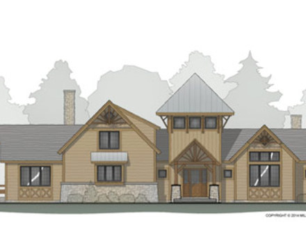 Timber Frame Floor Plan with Tower Timber Frame Construction