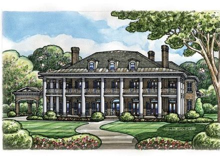 Colonial Southern House Colonial Plantation House Plans