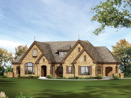 One Story Country House Stone One Story House Plans for Ranch Style Homes