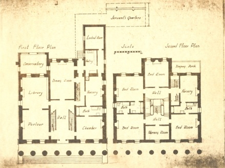 Plantation Mansion Floor Plans Floor Plans of Historic Plantations