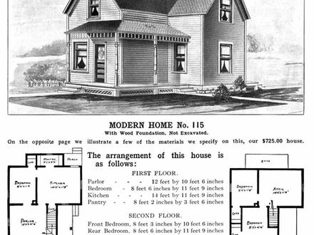 American foursquare house floor plans craftsman house for Early 1900s house plans