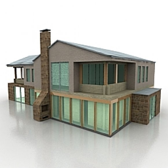 House building 3d model scale model buildings modern for Models of homes to build