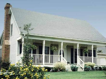 One story farmhouse plans with porches one story farmhouse for Single story farmhouse house plans