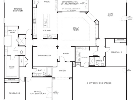 One-Bedroom Single Wide 4 Bedroom Single Story House Plans