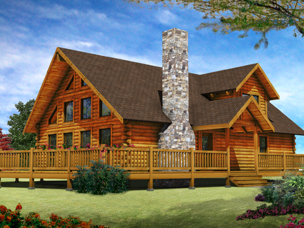 Biggest Luxury Log Home Luxury Log Cabin Home Designs