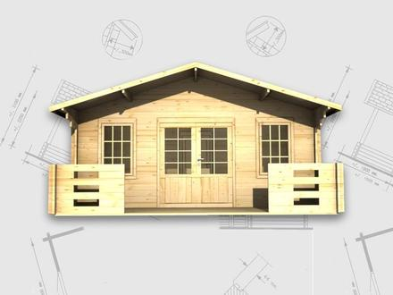 Prefab garage kits lugarde oklahoma wooden garage log for 24x30 cabin