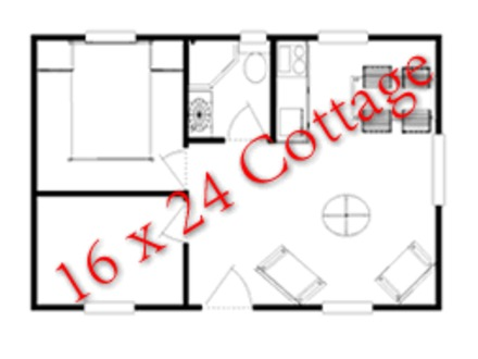 Blueprints for 16X24 Hunting Cabin 16X24 Cabin Floor Plans